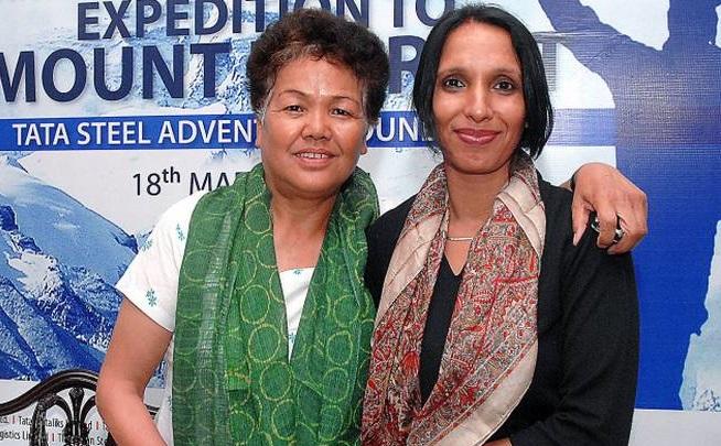 Bachendri pal with Hemlata agarwal