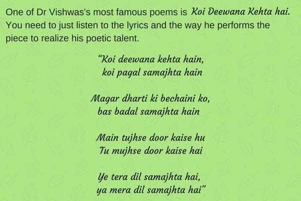 Dr Kumar Vishwas Koi deewana kahta hai poem