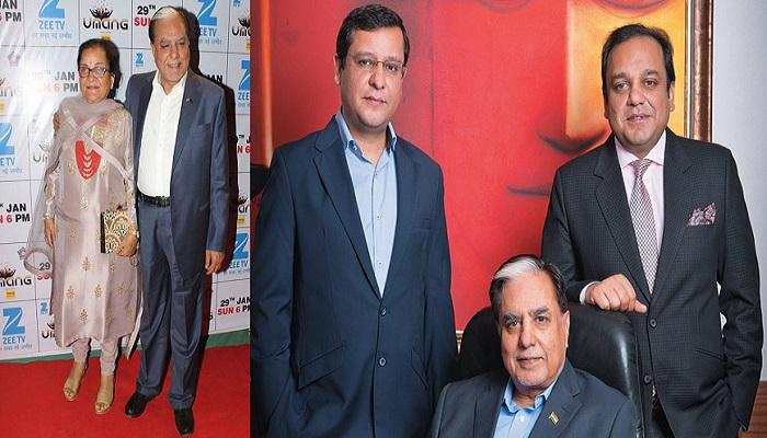 Dr Subhash Chandra wife sushila devi and sons, Amit goel and Punit goel